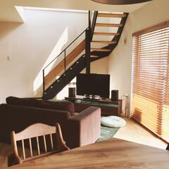 ウッドブラインド/リビング階段/造作家具フルオーダーの家/MEN's natural*/リビング 日差しがたっぷりのリビング♡♡ 無垢の床…(1枚目)