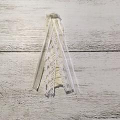 造花/しめ縄/ハンドメイド/100均/セリア セリアのしめ縄ベースと造花を使ってオシャ…(4枚目)
