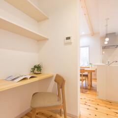家事スペース キッチン横の家事スペース。