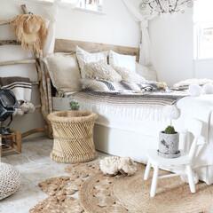 寝室/流木DIY/ジュートラグ/ボヘミアン 寝室にはお気に入り雑貨がたくさん♪ 日本…(1枚目)
