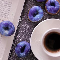 ギャラクシードーナツ/ギャラクシー/ドーナツ/doughnut/グルメ/フード/... Galaxy doughnut作りました…(1枚目)