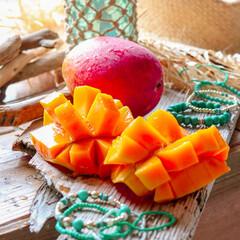 マンゴー/奄美/グルメ/フード 奄美大島のマンゴー♪は真っ赤で果肉はこい…