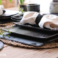 和食器/ニトリ/ストーンディッシュ/石皿/300円ショップ/3コイン 300円ショップの石皿♪とってもシックで…