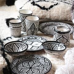 陶器/サフィ/モロッカン/モロッコ/食器 我が家の食器達の中でもお互い食器さん♪モ…