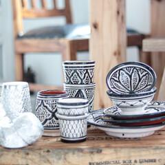 マライカ/タイのアルミ食器/モロッコ陶器/フェズ/モロッコ/モロッカン 多国籍な食器達♬ モロッコのフェズとタイ…