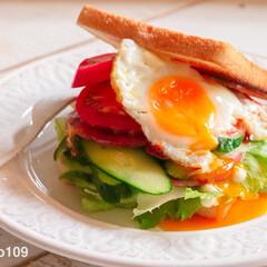 Zara home/ZARA/ザラホーム/サンドウィッチ/サンドイッチ/トースト/... お昼のお野菜たっぷりトーストサンドイッチ…