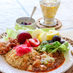 麻婆豆腐/グルメ/フード/おうちごはん 夏の目で見て美味しい、ワンプレート♬食欲…