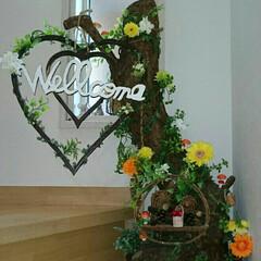 Welcomeボード/インテリア/DIY/雑貨/100均/セリア/... パパが結婚式の時に作ってくれたwelco…