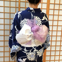 夏祭り/ファッション/おでかけ 今年の浴衣の帯はこんな感じにしてもらいま…