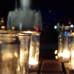 ライトアップ/キャンドル/雑貨/おでかけ 昨晩、キャンドル灯したライトアップフェス…