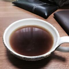益子焼/コーヒー 昨日のサイフォンで淹れてもらった(*´꒳…