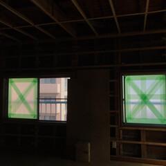 積水化学工業 養生テープ スマートカットテープ No.833 緑 幅50mm×長さ25m巻 1セット | セキスイ(養生紙、養生テープ)を使ったクチコミ「千葉にある旦那の実家を今回また訪れるであ…」