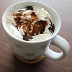 お家カフェ/チョコレートラテ/食後の楽しみ/わたしのごはん 食後のカフェタイム チョコレートラテ  …