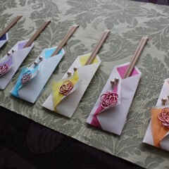 はし袋/水引 箸袋を作ってみました。