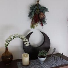 花のある暮らし/玄関飾り 玄関飾り。