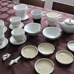 益子焼 益子陶器市で購入した器たちです。