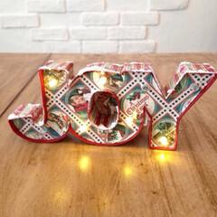 マーキーライト/マーキーレター/マーキーレターズ/ペーパークラフト/クリスマス/手作り雑貨 文字をデザインして厚紙から作りました。 …