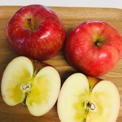 果物 山形県朝日町のリンゴこうとく たっぷりの…