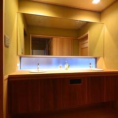 和風/カウンター/2ボール 和田山の数寄屋の洗面 茶事空間の洗面 大…