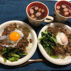 彼氏飯/2回目/愛情/フード 今日のディナーは 「ピリ辛のひき肉丼?」…