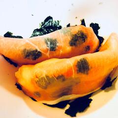 たらこ?😂/生ハム/ポテトサラダ/恋?/鯉?/フード 今日のディナーで昨日の残りを使って すて…