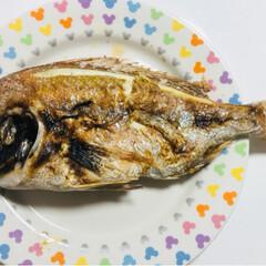 ハマチの竜田揚げ/鯛の塩焼き/めでたいね 旦那さんがこの前釣りに行き たーくさん釣…(2枚目)