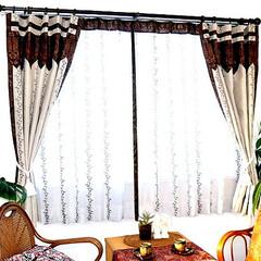 カーテン/カーテン 通販/おしゃれ カーテン/かわいいカーテン/おしゃれなカーテン/アジアンカーテン/... プチアジアンから濃厚なアジアンテイストを…