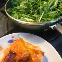サトウの切り餅 パリッとスリット 2019603 1袋 佐藤食品工業 米加工品(餅)を使ったクチコミ「今日の私のお昼です。  お餅が食べたい時…」(2枚目)