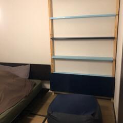 DIY/ディアウォール 賃貸のベッドルームにディアウォールでちょ…
