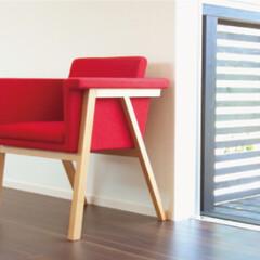 椅子 /アームチェアー/ナチュラル/シンプルモダン/ダイニングチェア/サロン/... ボックススタイルがつつまれ感のある座りを…