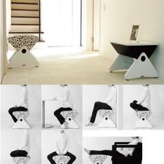 スツール/木製椅子/木製スツール WASは一般的なスツールとは画した発想か…