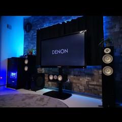 家電/テレビスタンド/壁寄せ/AVアンプ/間接照明/LED/... ✨テレビ周りスッキリ計画✨ 横型AVラッ…(2枚目)