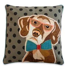 クッションカバー/犬/犬雑貨/アニマル/リビング/刺繍/... クッションカバー・レトリバー