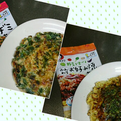 雹/花壇/夕飯/チーズタッカルビ/チヂミ/お好み焼き/... 今夜はチーズタッカルビと先日🐶ハルのキー…