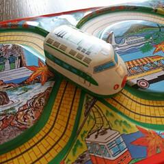 電車/ゼンマイ/家族旅行/オモチャ/遥か昔/ブリキのオモチャ/... おはようございます 片付けをしていたら懐…