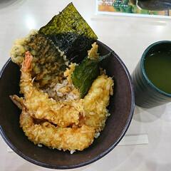 くら寿司/天丼 今日のお昼は くら寿司の プチ天丼💕 …