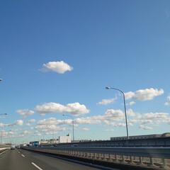 暖冬/高速道路/高層ビル/都内/お見舞い 昨日は叔母さんのお見舞いに都内へ🚗⁼³₌…