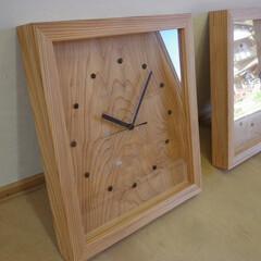 時計/掛け時計/ナチュラル/wood この時計を作った経緯です。ある不動産会社…