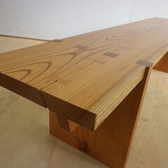 ベンチ/欅/シンプル けやきのシンプルなベンチの制作です。