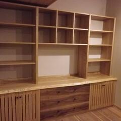 家具/壁面収納/収納/無垢/棚 家をリフォームしたお客さんから連絡頂きま…