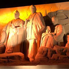 砂像展/風景/グルメ/フード/おでかけ/秋 昨日は芦屋砂像展に行って来ました。 夜は…
