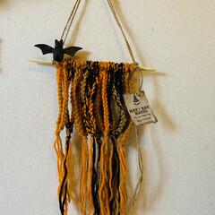 halloween/毛糸/雑貨/インテリア/ハンドメイド 昨年の余ってる毛糸🧶を何も考えないでひた…