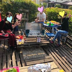 シュラスコ/BBQ/令和の一枚/至福のひととき/LIMIAごはんクラブ/おうちごはんクラブ/... 娘とその友達と私の友達と9人でお庭でBB…(7枚目)
