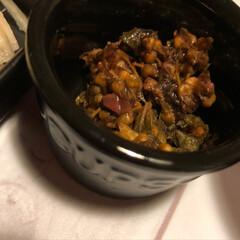 グルメ/フード/100均/セリア/キッチン雑貨/おうちごはん 今日は例のセリアの食器の黒バージョンで揃…(2枚目)
