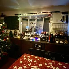 ライトアップ/クリスマス雑貨/クリスマスインテリア/クリスマスツリー/クリスマス/リビング/... ライトアップ✨✨✨ここが我が家のメイン…(2枚目)