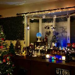 ライトアップ/クリスマス雑貨/クリスマスインテリア/クリスマスツリー/クリスマス/リビング/... ライトアップ✨✨✨ここが我が家のメイン…