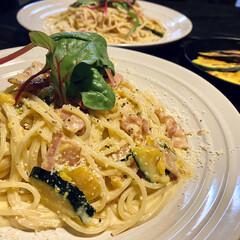 pasta/おうちごはん/おうちカフェ おはようございます! 台風たくさんの被害…