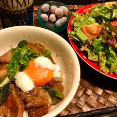 角煮丼/グルメ/フード/おうちごはん なんちゃって角煮丼‼️ 暑い💦でも角煮食…(1枚目)