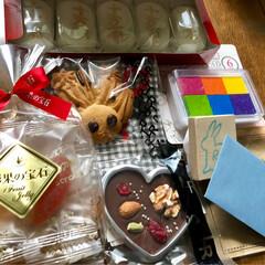 リミ友さんに感謝です/ありがとう/友チョコ/素敵便/わたしのごはん/ハンドメイド/... 今日は2人からの素敵便💕🎁 nagomi…
