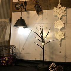 ガーランド/雪の結晶モチーフ/編み物/雑貨/ハンドメイド/暮らし/... 最近は雪の結晶のモチーフをよく編んでます…